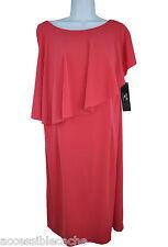 Suzi Chin Women's Elegant Fly Away Sheath Cocktail Dress S263 Red, Plus 18 or 22