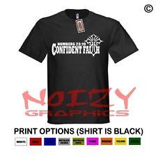 Confident Faith Christian Shirt Black T-Shirt Numbers 23:19 Cross Religious