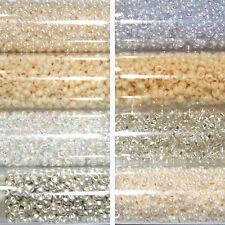 Miyuki Rocailles 11/0 rund 2 mm weiß / creme / natur 300 Farben a ca. 9,9 g