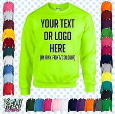 Custom Personalised Baby/Kids/Childrens SWEATSHIRT Name Funny Gift-Yr text/logo4