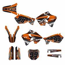 YZ125 YZ250 Graphics kit Yamaha 1996 1997 1998 1999 2000 2001 #3333 Orange