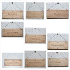 Dekoration Schilder Holz 9,5 cm br - 3,8 cm h  verschiedene Beschriftungen