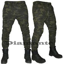 Pantalone uomo mimetico militare Cargo tasconi elasticizzato multitasche 8667