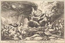 Poster, Many Sizes; 1600Ca. The Fall Of Phaeton Etching 17.5 X 25.2 Cm Washingto