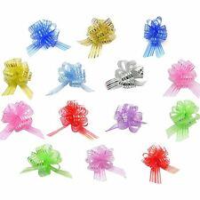 Pom pom bows | décoratif coloré brillant tissu pour boîte cadeau présent