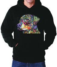 Rottweiler Multicolor Dean Russo Hoodie Sweater New Hooded Sweatshirt Black