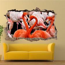 WILDLIFE BIRDS FLAMINGO WALL STICKERS 3D ART MURAL ROOM OFFICE HOME DECOR TI2