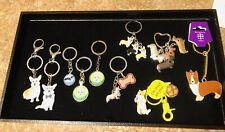 NEW! Pembroke Cardigan Welsh Corgi Dog keychains! You Pick Style