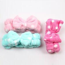 Korean Headband Bow Tie Make up Face Wash Hair Band Bath Head Wrap L