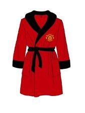 Men's Manchester United Dressing Gown Official Football Club Fleece Bath Robe