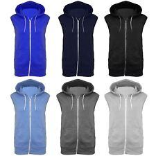 Kids Hooded Sleeveless Hoodie Sweatshirt Zipper Casual Jacket Gilet Jumper Tops