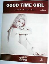 NANCY SINATRA Sheet Music GOOD TIME GIRL Criterion Publ. 60's POP Vocal FRANK