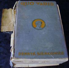 ANTIQUE QUO VADIS Henryk Sienkiewicz VINTAGE BOOK Library
