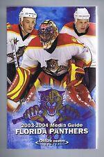2003/04 Florida Panthers NHL Hockey Media GUIDE