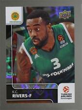 2016 Upper Deck Euroleague Patterned Rainbow #91 KC Rivers K.C. Basketball Card