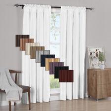 2PC Soho Faux Silk  Window Curtain Treatment Set Rod Pocket Panels