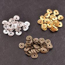 50/100Pcs Antique Silver/Gold/Bronze Round Charm Spacer Beads  JK3038
