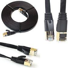 RJ45 CAT7 Red Ethernet Parche LAN Gigabit 10 Gbps SSTP Cable plano 1M-Lote de 20M