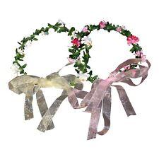 LED Bridal Garland Flower Crown Headband Light Up - Wedding, Festival