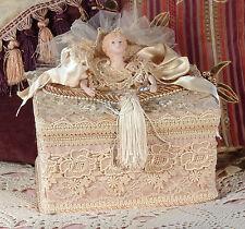 Victorian Keepsake / Trinket / Hat Box - Large Square- Vintage Style - Handmade