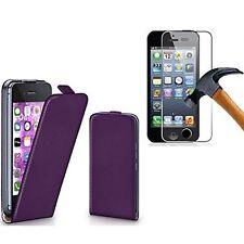 Pour Iphone 4/4S/5/5S/5C/6/6 Plus Housse étui vertical Cuir PU + 1 verre trempé