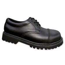 3-Loch Ranger Boots UK Halbschuhe 39-47 (5-13) mit Stahlkappe Gothic Shoes Neu