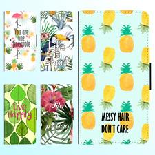 iPhone X 8 8 Plus 7 6s 6 Plus PU Leather Flip Wallet Case Tropical Leave Cover