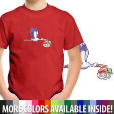 Toddler Kids Boy Girl Tee Youth T-Shirt Stork Baby Mario & Luigi Yoshis Island