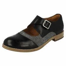 Ladies Clarks Zyris Nova Smart Leather Buckle Strap Shoes D Fitting