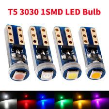 100Pcs T5 PCB 3030 1SMD 18 37 70 1 LED Dashboard Cluster Gauge Lights Bulbs 12V