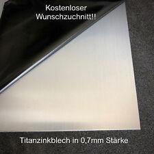 Titanzink Blech in 0,7mm Stärke Titan-Zink Design KOSTENLOSER VERSAND