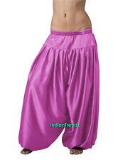 Orchid Satin Harem Yoga Pant Belly Dance Pantaloons Bombachos Aladdin Halloween