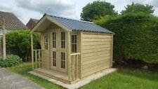 Quality Premium Timber Beryl Summer Lodge Pressure Treated Steel Roof Heavy Duty