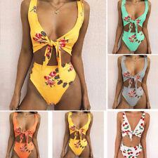 Women High Waist Floral Bikini Set Push-up Padded Swimsuit Bathing Suit Swimwear