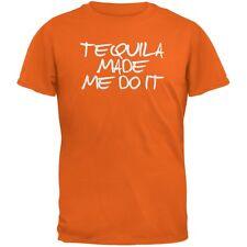 Cinco de Mayo - Tequila Made Me Do It Orange Adult T-Shirt
