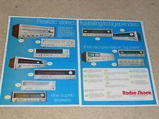 Realistic Receiver Ad, 1976, STA-2000, SA-2000, SA-1000a, STA-235, 2 pages, RARE