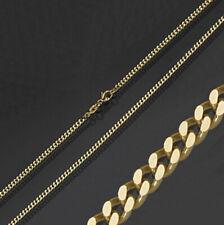 Gold Double Gelbgold Panzerketten 36- 60 Halskette vergoldet Herren Damen Kinder