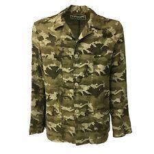 BKø chaqueta de hombre impresión de camuflaje mod DU18023 Madson 100% lino