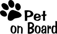 Pet on Board with Paw Print vinyl decal window dog pet animal