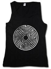 CIRCLE MAZE DAMEN TANK TOP Spiral Labyrinth Mystic Hypnotic Esoterik Hypno