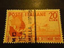 FIERA DI BARI 1949  FRANCOBOLO USATO DELLA REPUBBLICA ITALIANA DA LIRE 20