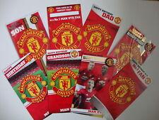 Manchester United Birthday Card Son Brother Grandson Dad Crest