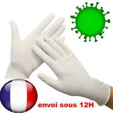Gant Latex Jetable Hygiène Sanitaire Gants Protection  Bactérien Virus