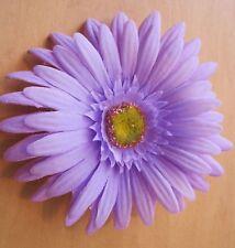 "4.5"" Light Lavender Gerbera Daisy Silk Flower Hair Clip"