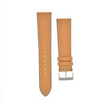 "ALMA ""Zermatt"" Smooth CALF Skin Leather Watchstrap Cognac Bracelet UHRBAND 20 19"