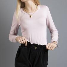 Maglia donna pullover maglioncino aderente girocollo sotto giacca golfino 00028