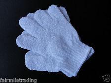2 Body Scrub Esfoliante Guanti per doccia o vasca Mitt come Loofah Spugna di massaggio della pelle SPA