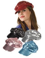 Mütze Hut Kappe Cap tapa boné Pailetten  Glitzer Glitter blau schwarz rosa rot