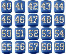#40-59 Number Sweatband Wristband Lacrosse Softball Volleyball Royal Blue Money