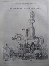 "7x10"" PUNCH cartoon 1846 THE PROGRESS OF THE WELLINGTON STATUE"